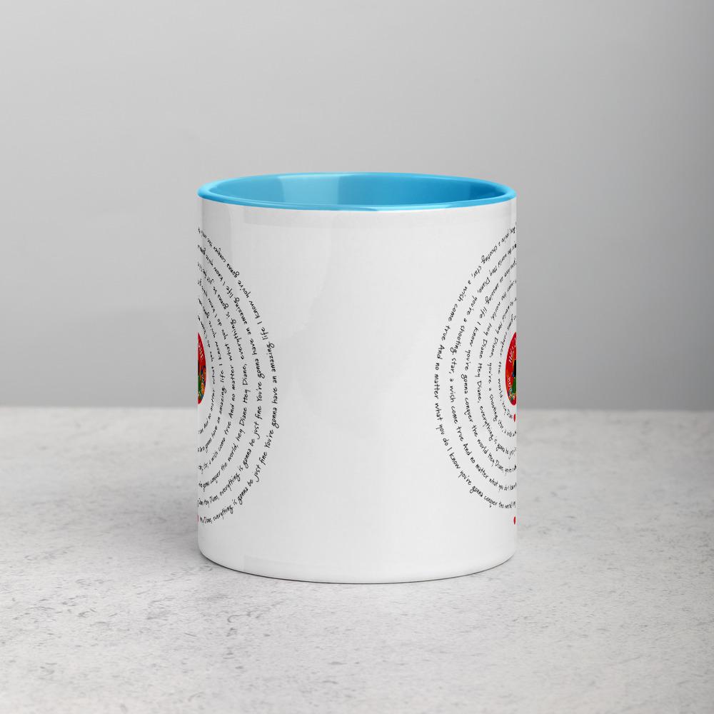 Song Lyric Mug Light Blue
