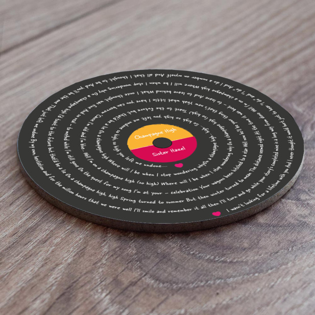 Song Lyric Mug Coaster