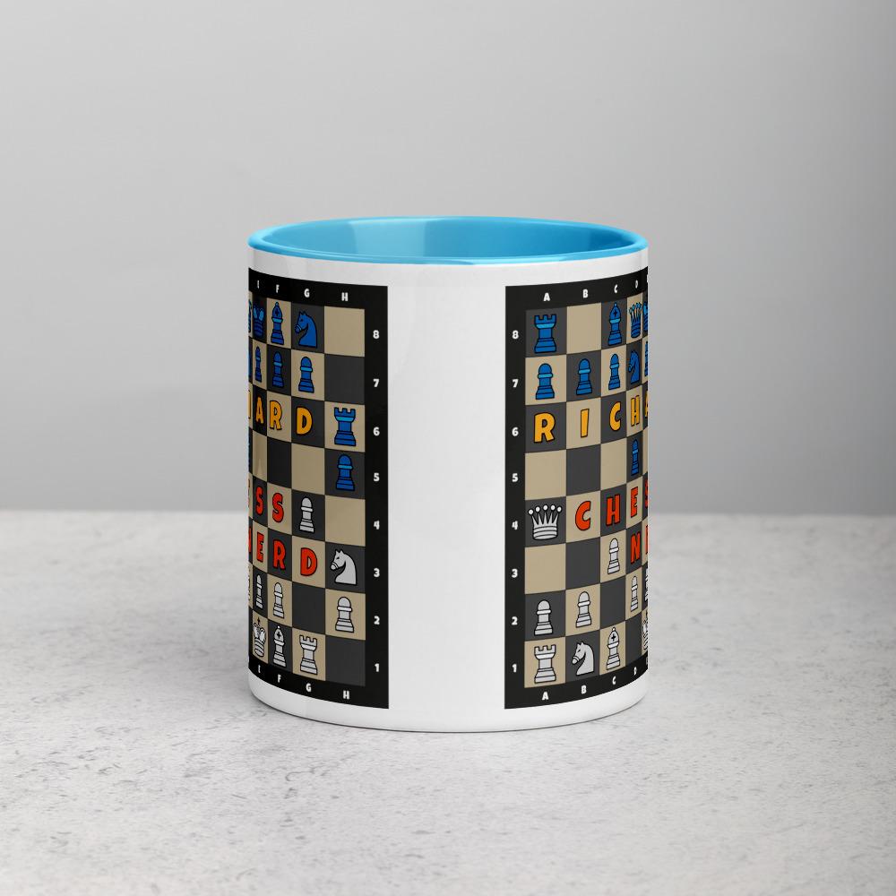 Chess Mug Blue