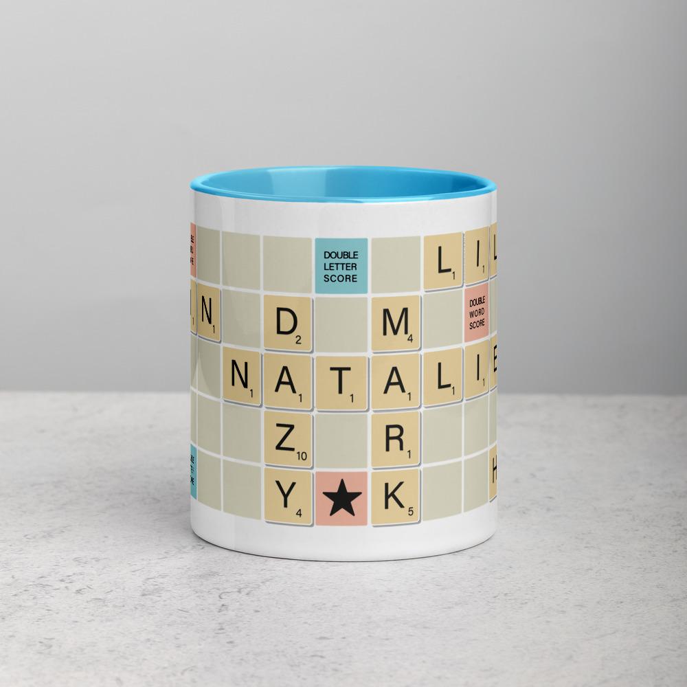 Scrabble Mug Traditional Light Blue