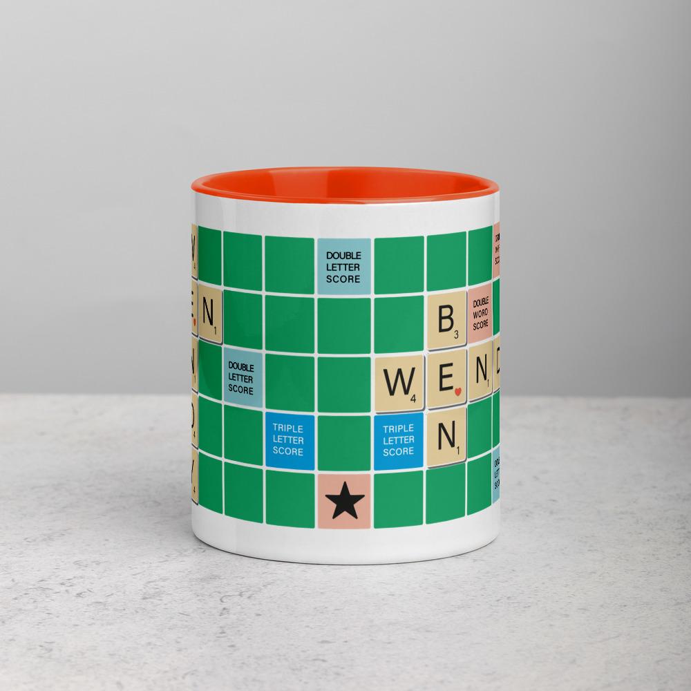 Scrabble Mug Green BG Red