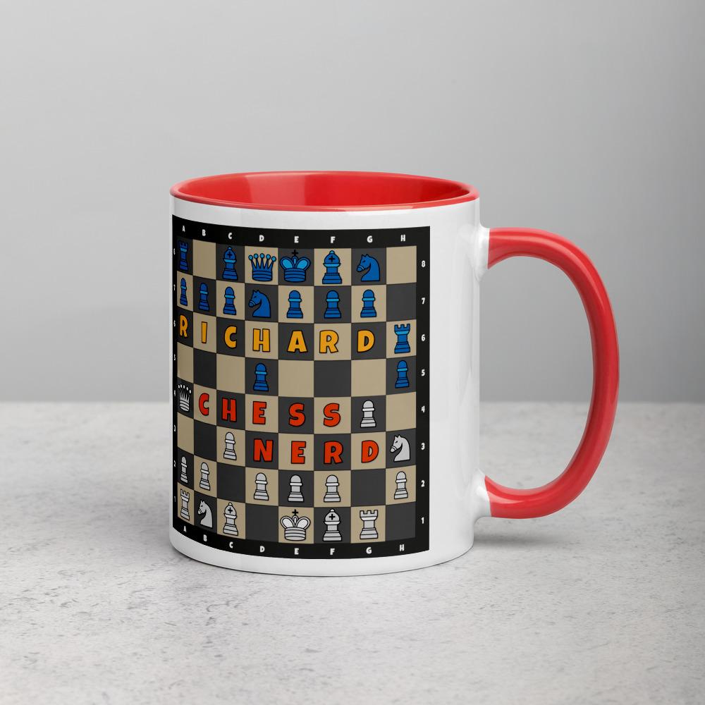 Chess Mug Red